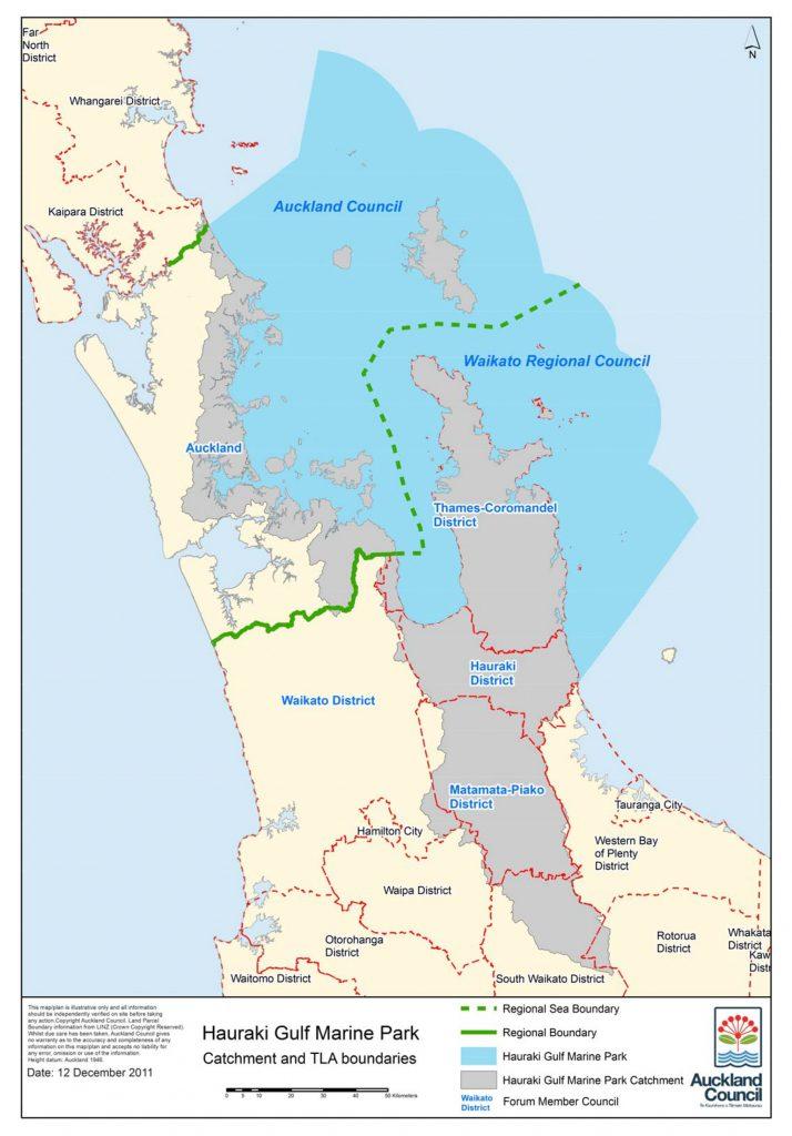 Hauraki Gulf Marine Park map